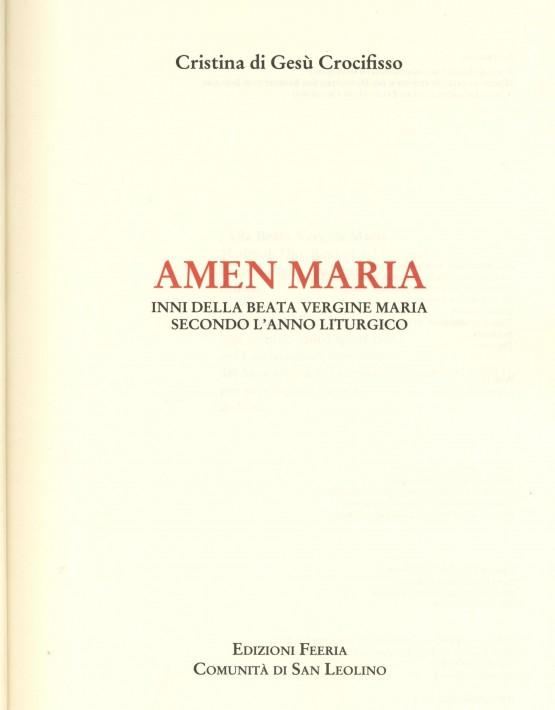 Amen Maria - prima pagina