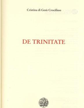 De Trinitate - prima pagina